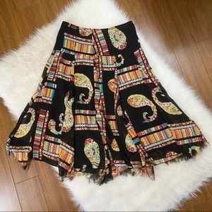Fray Hem Boho Skirt